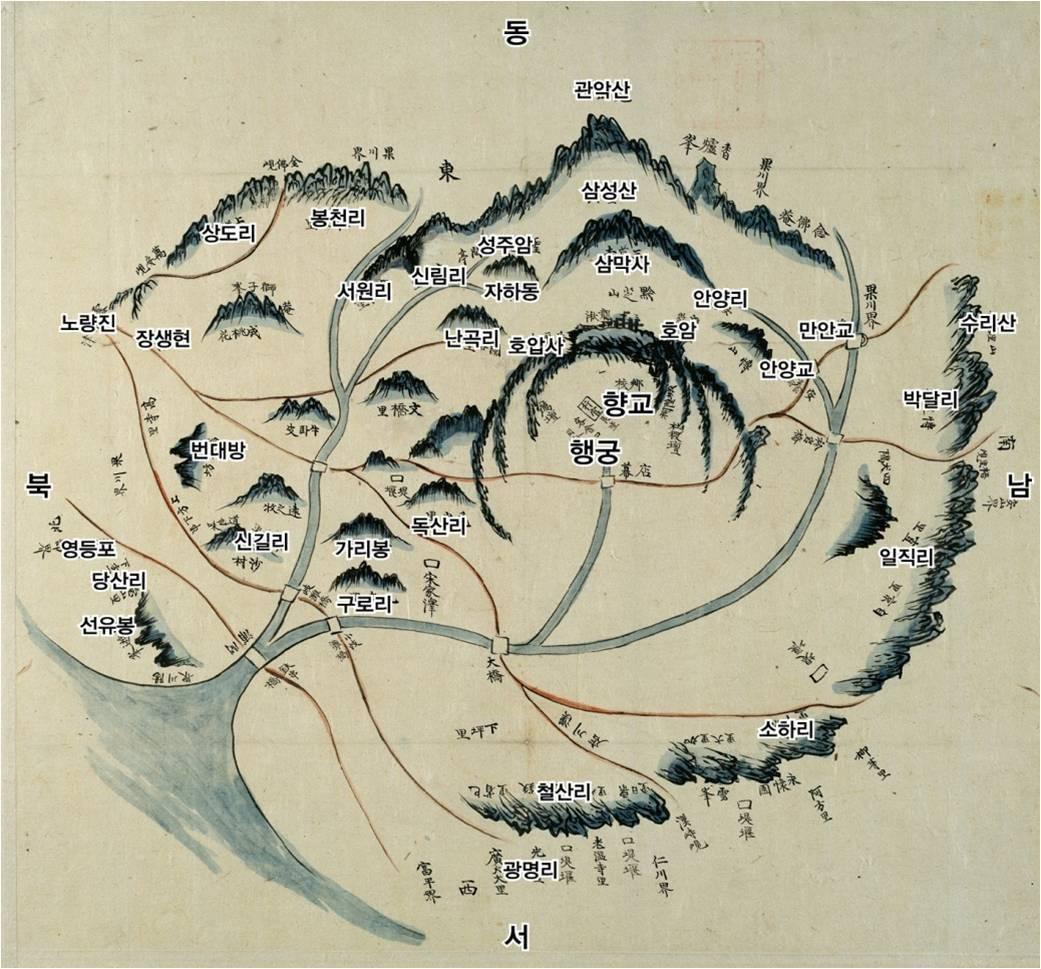서울대 규장각 소장, 1872년, 조선 후기 지방지도, 경기도 시흥